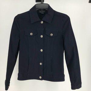 Tribal Stretch Denim Jacket Size 4